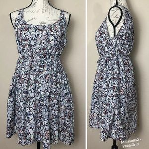 Anthro Porridge Floral Dress Front Tie Small
